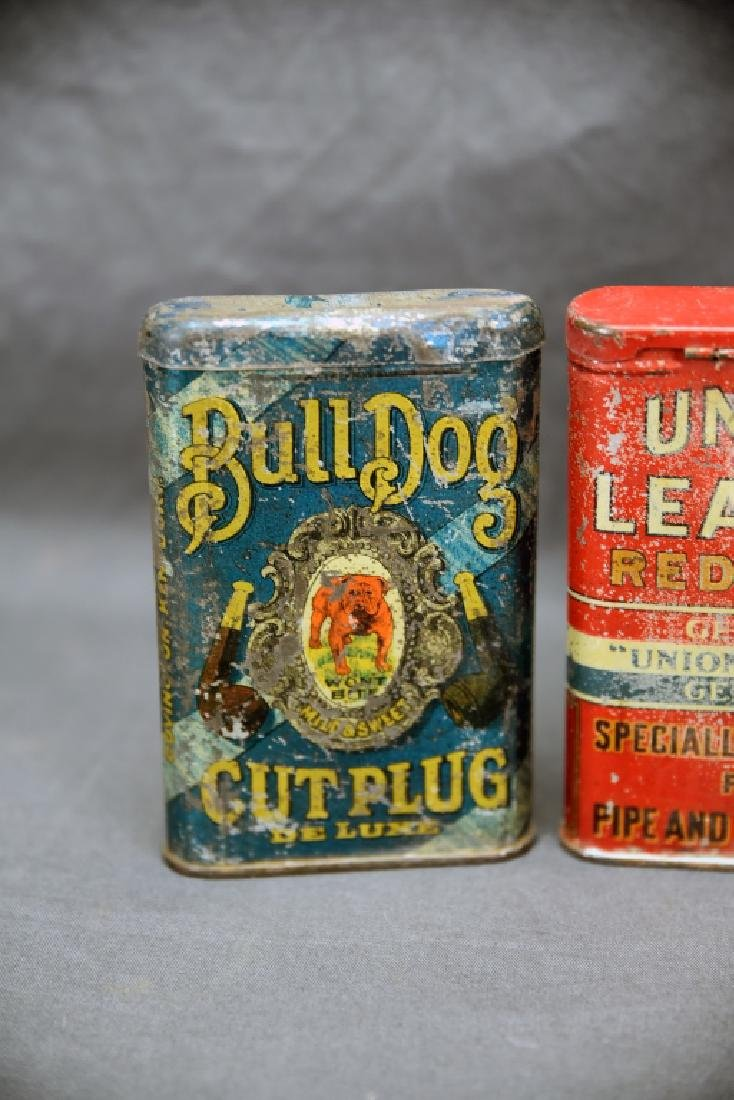 3 Antique Tobacco Pocket Tins Bull Dog, Dial + - 6