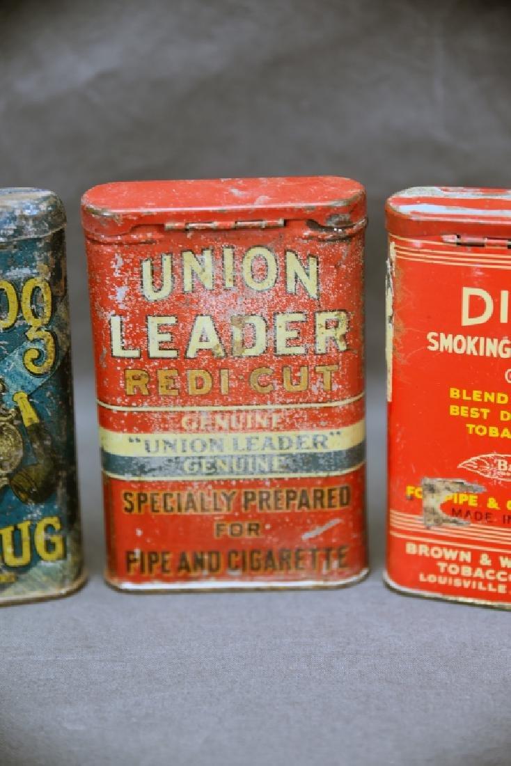 3 Antique Tobacco Pocket Tins Bull Dog, Dial + - 7