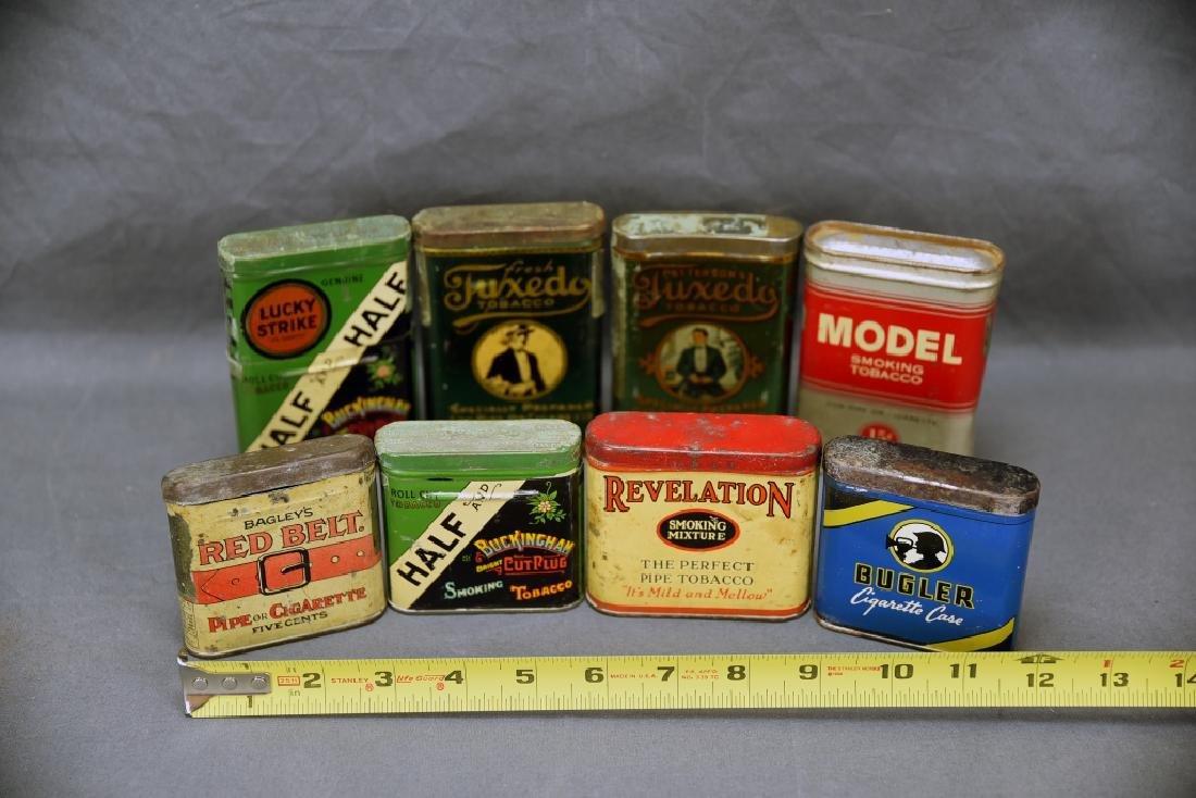 8 Vintage Tobacco Pocket Tins Red Belt, Tuxedo+ - 2