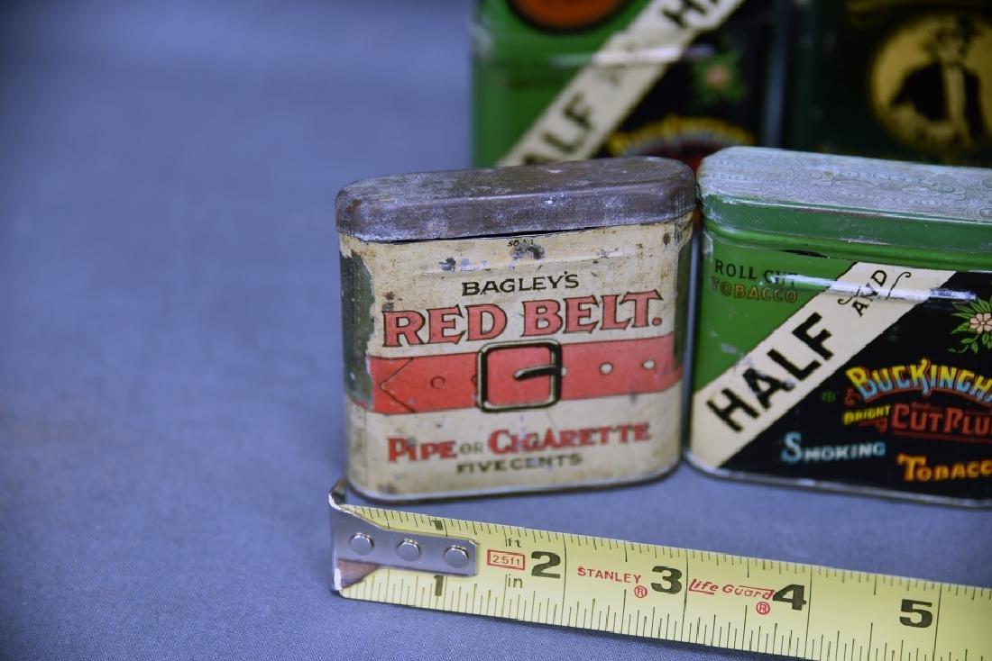 8 Vintage Tobacco Pocket Tins Red Belt, Tuxedo+ - 3