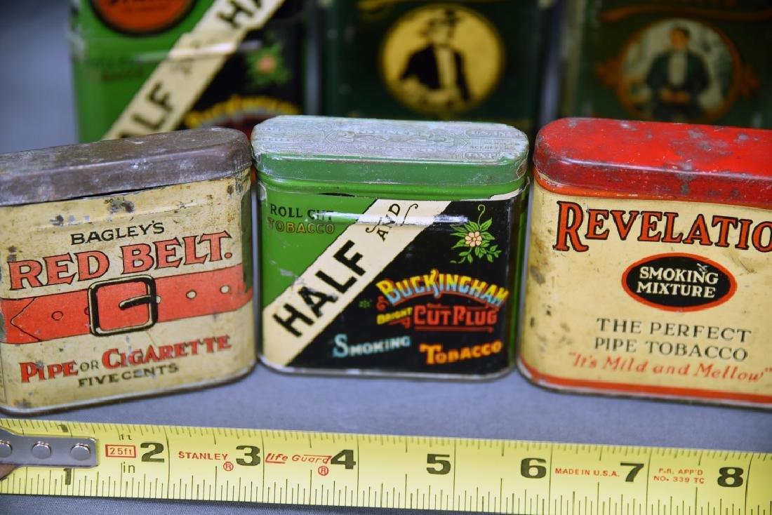 8 Vintage Tobacco Pocket Tins Red Belt, Tuxedo+ - 4