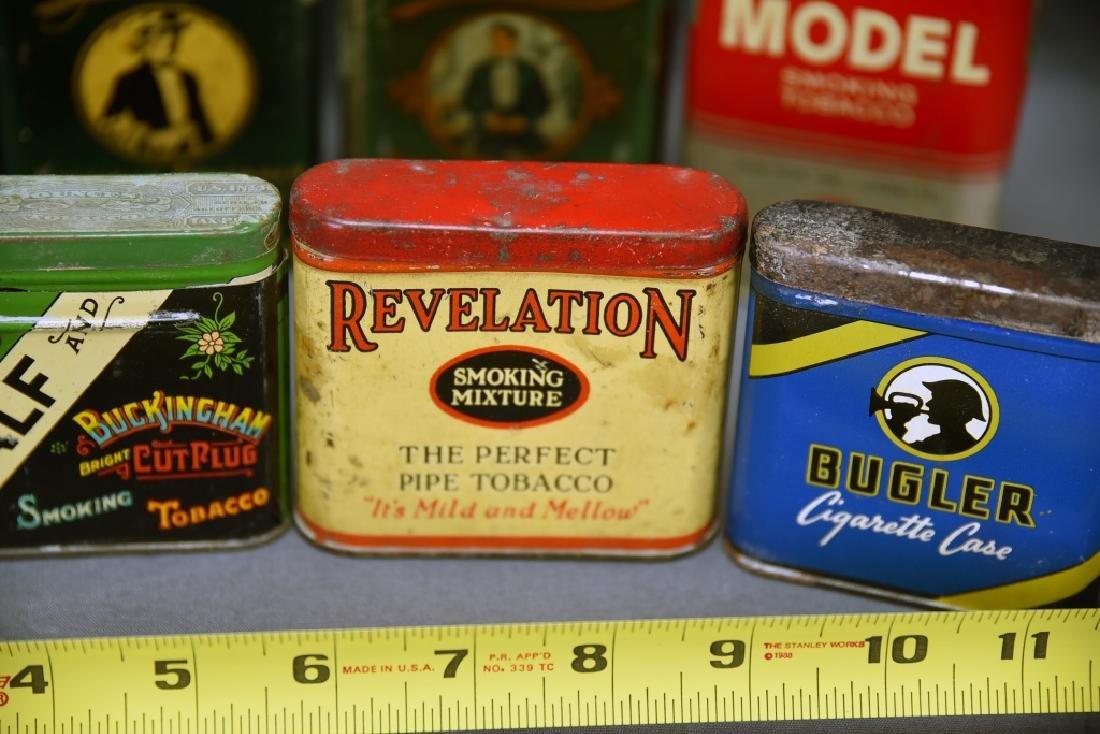 8 Vintage Tobacco Pocket Tins Red Belt, Tuxedo+ - 5