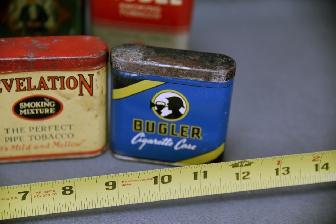 8 Vintage Tobacco Pocket Tins Red Belt, Tuxedo+ - 6