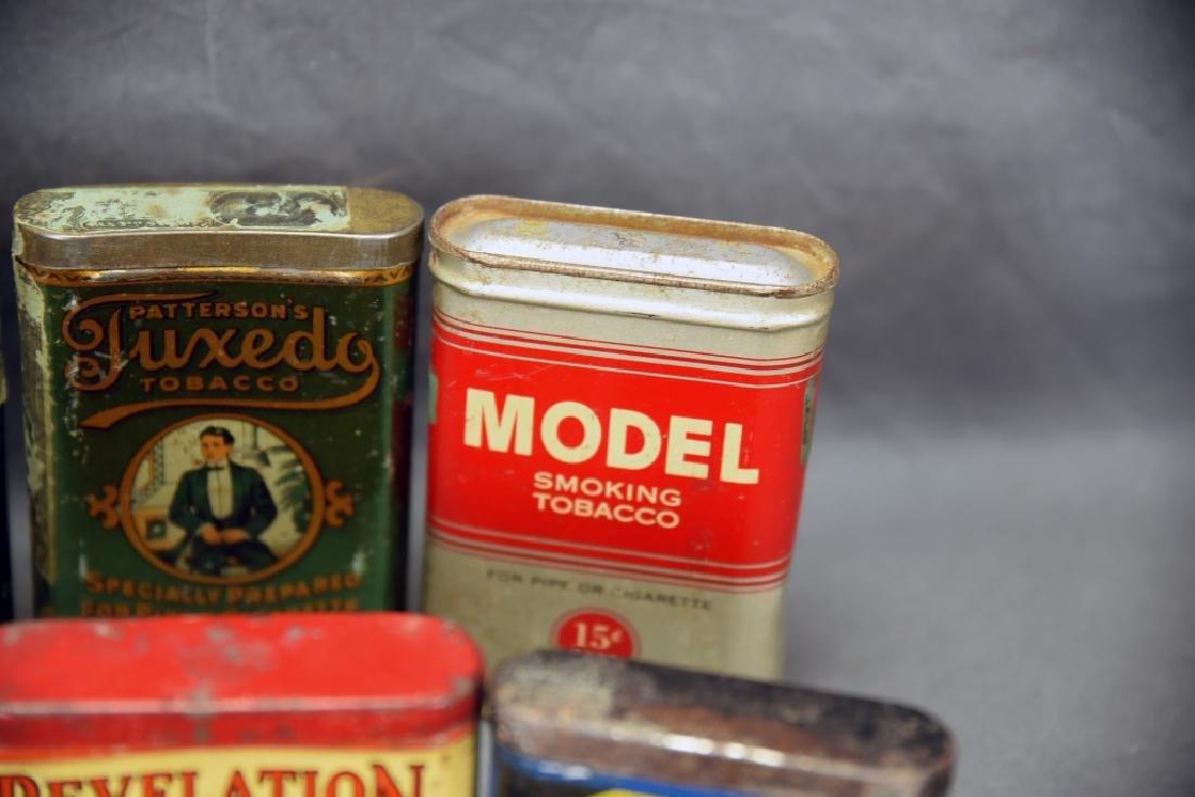 8 Vintage Tobacco Pocket Tins Red Belt, Tuxedo+ - 7