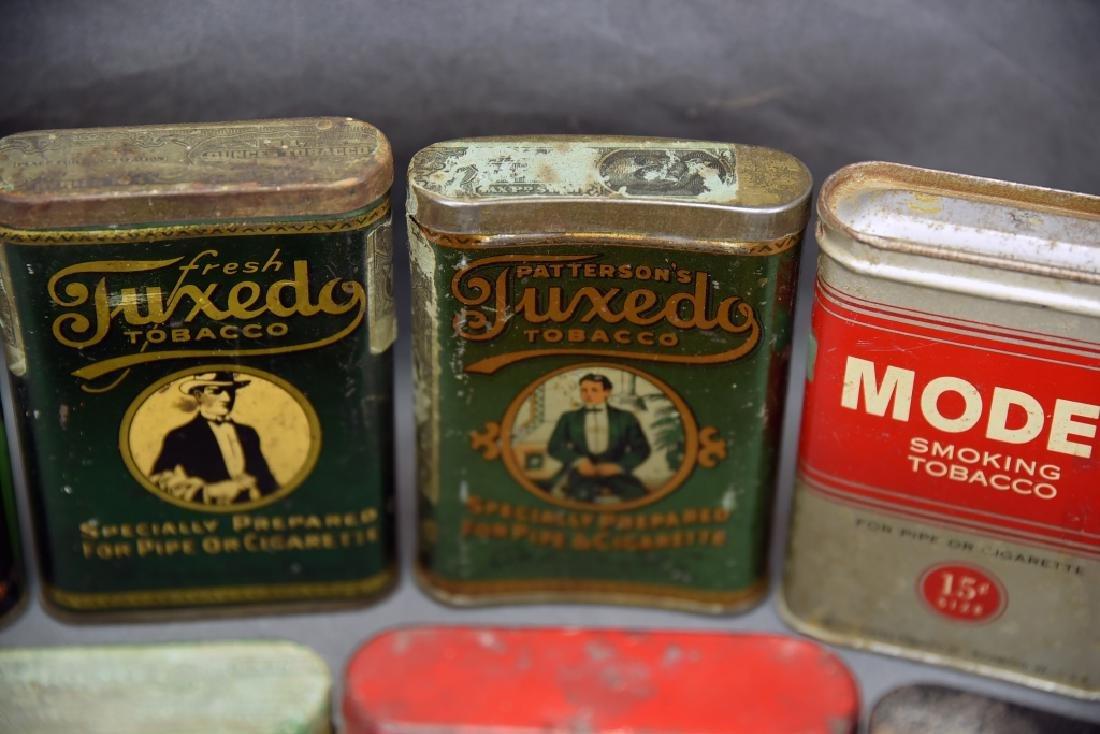 8 Vintage Tobacco Pocket Tins Red Belt, Tuxedo+ - 8