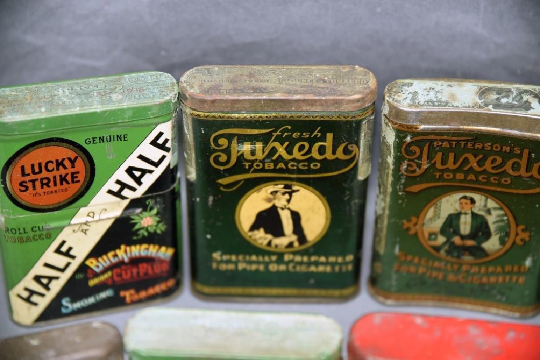 8 Vintage Tobacco Pocket Tins Red Belt, Tuxedo+ - 9