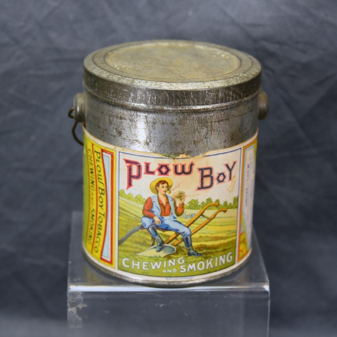Antique Plow Boy Tobacco Pail