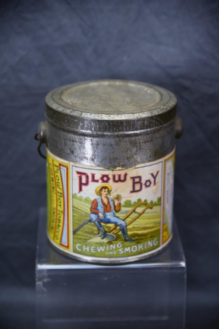 Antique Plow Boy Tobacco Pail - 2