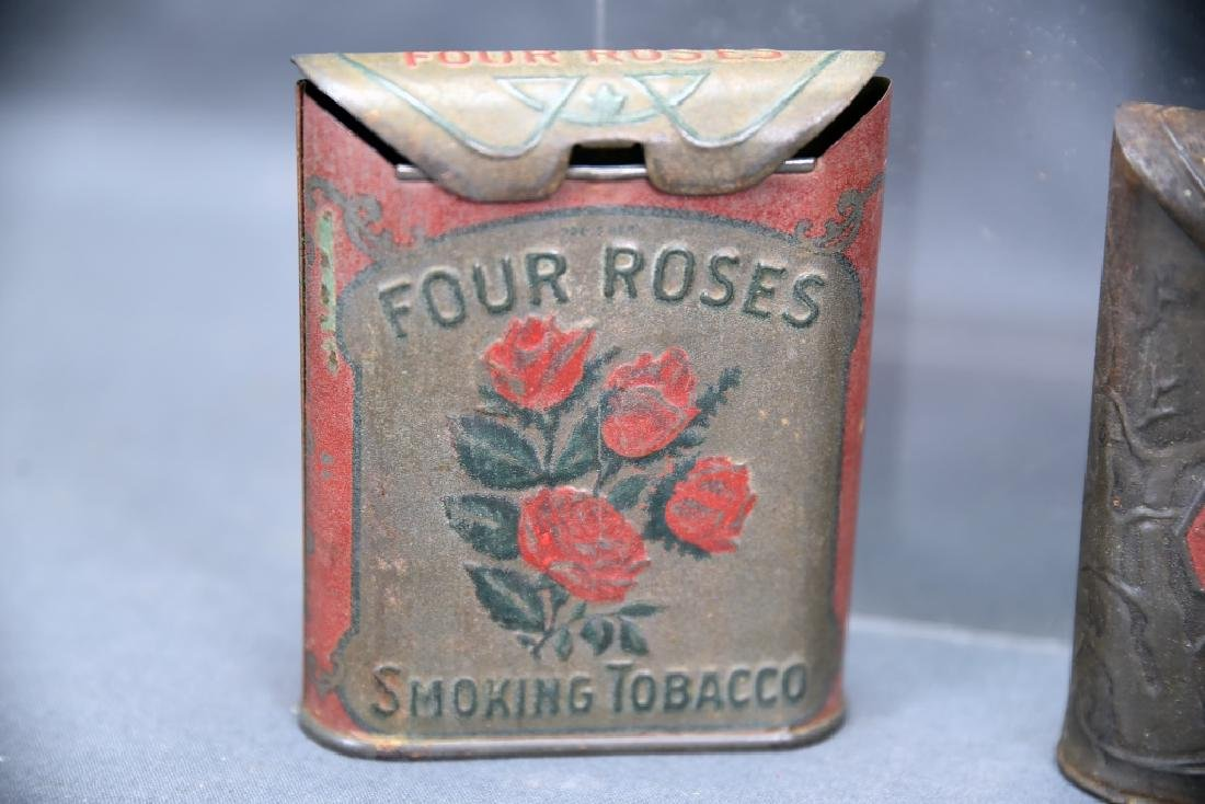 3 Antique Embossed Tobacco Tins Tin Oaks, 4 Roses - 5