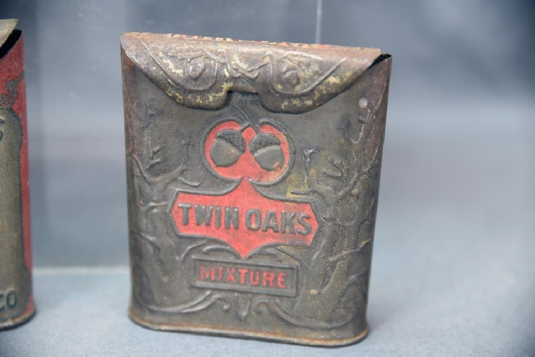3 Antique Embossed Tobacco Tins Tin Oaks, 4 Roses - 6