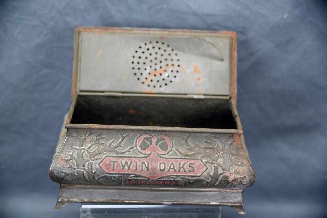3 Antique Embossed Tobacco Tins Tin Oaks, 4 Roses - 8
