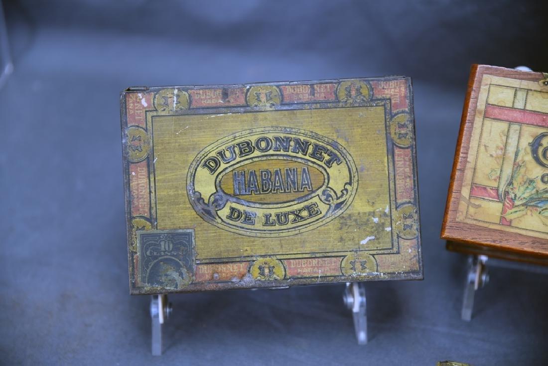 4 Cigar Boxes, 3 Tin and 1 Wood - 2