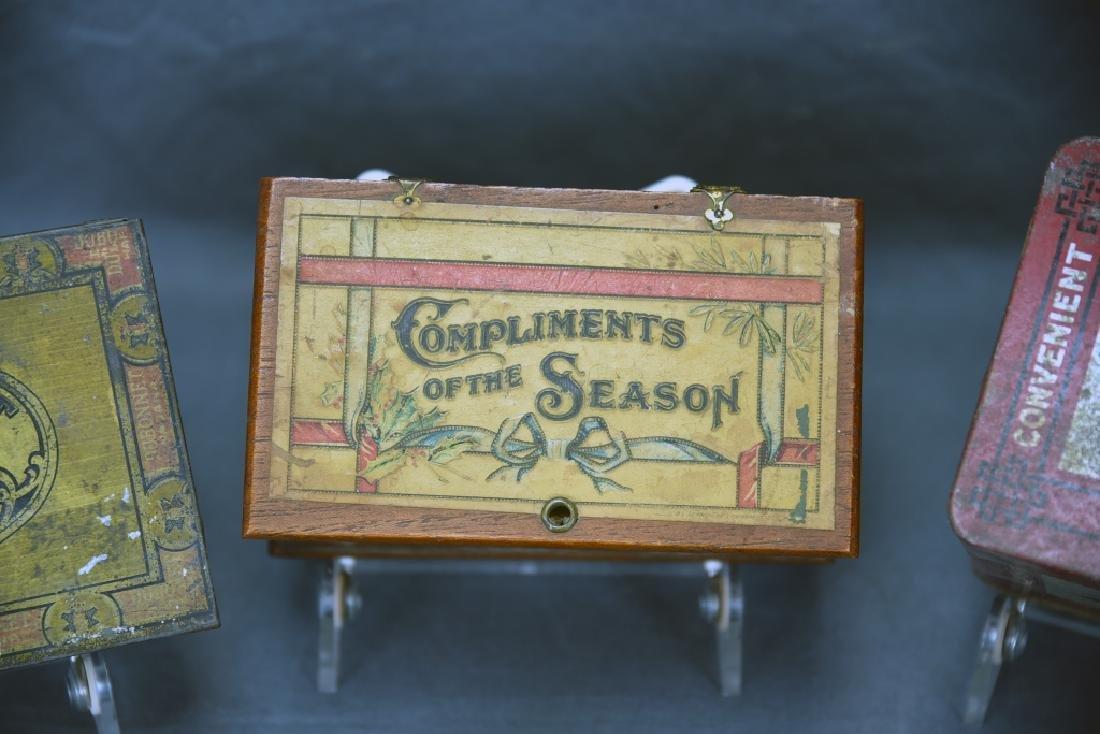 4 Cigar Boxes, 3 Tin and 1 Wood - 3