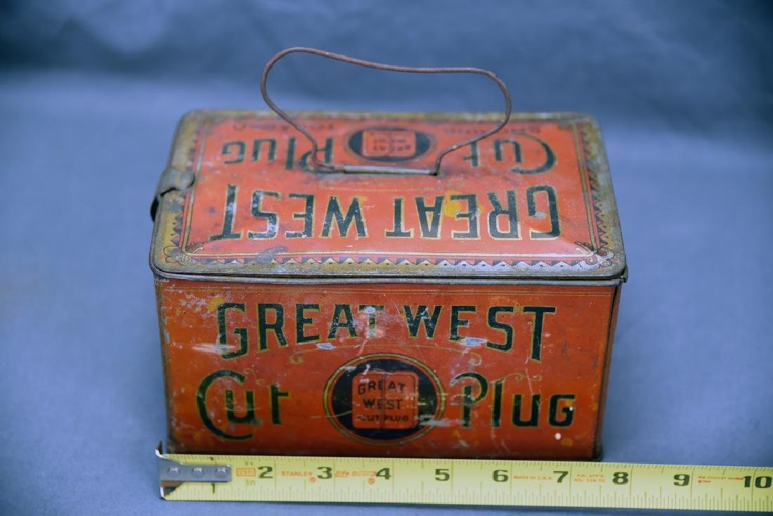 Great West Cut Plug TobaccoTin Lunch Box Pail - 3