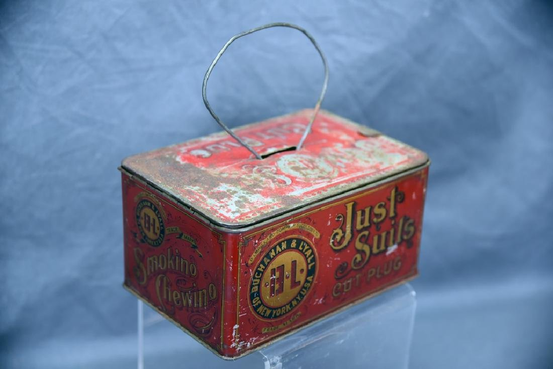Just Suits Cut Plug Tobacco Lunch Box Tin - 2