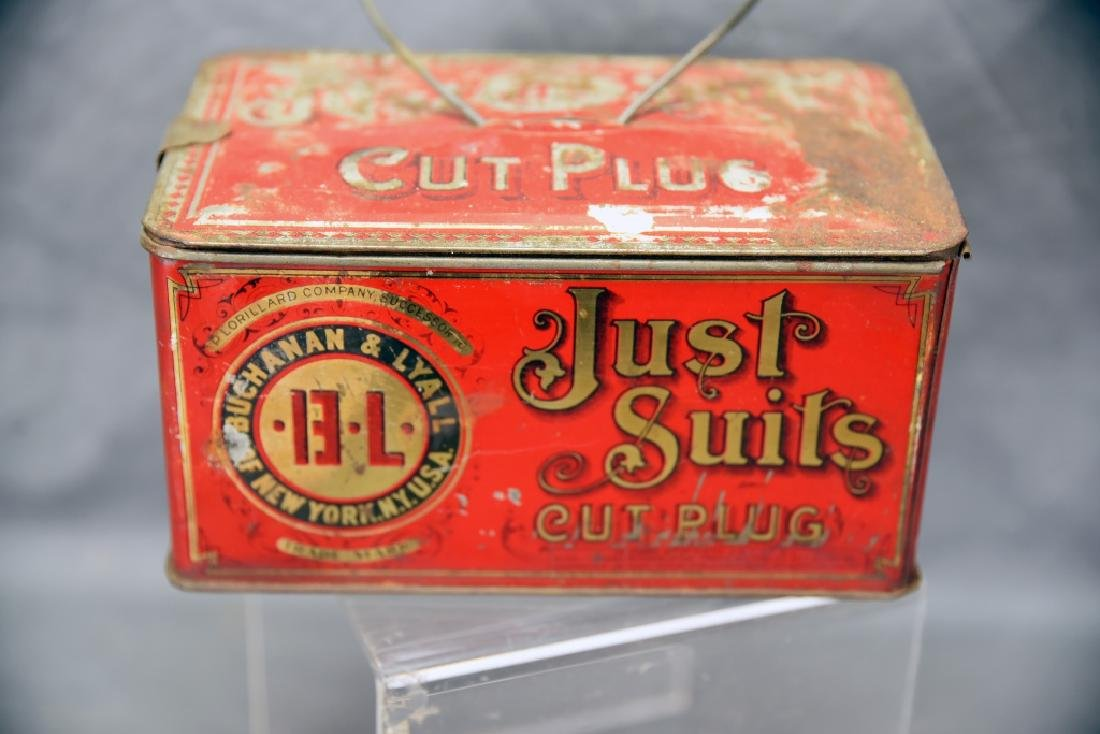 Just Suits Cut Plug Tobacco Lunch Box Tin - 5