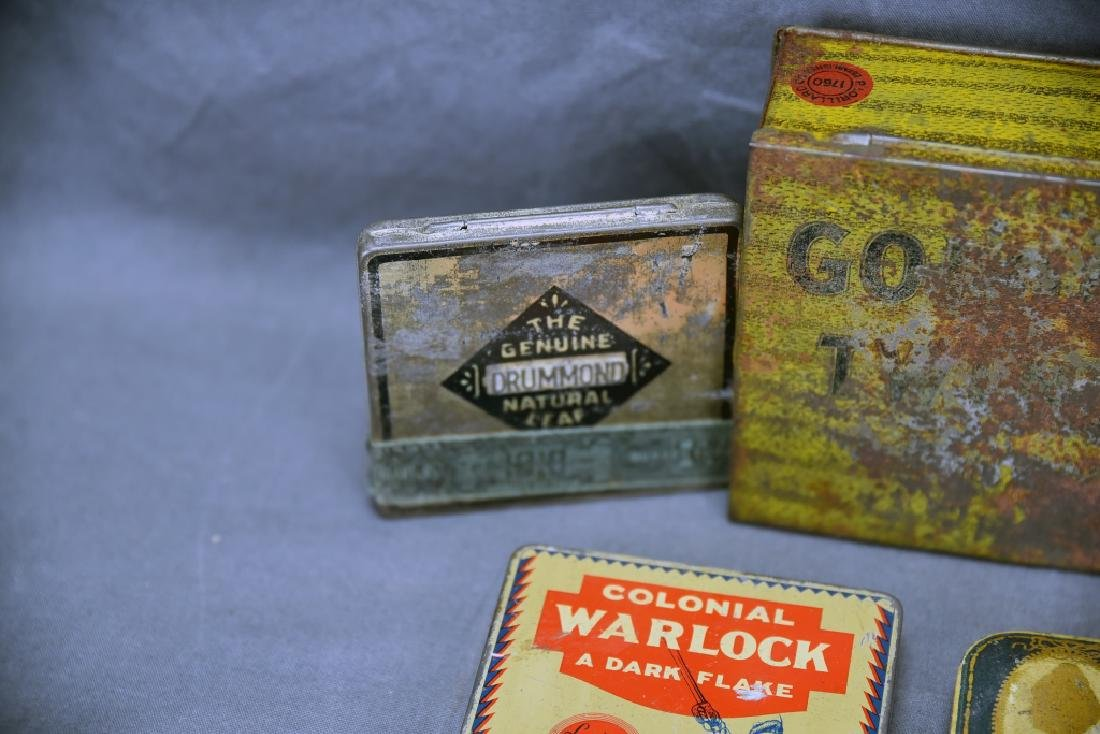 9 Tobacco and Snuff Tins - 8