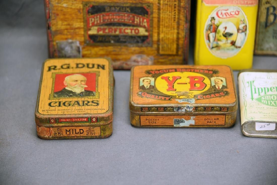 11 Tin Cigar Boxes - 2
