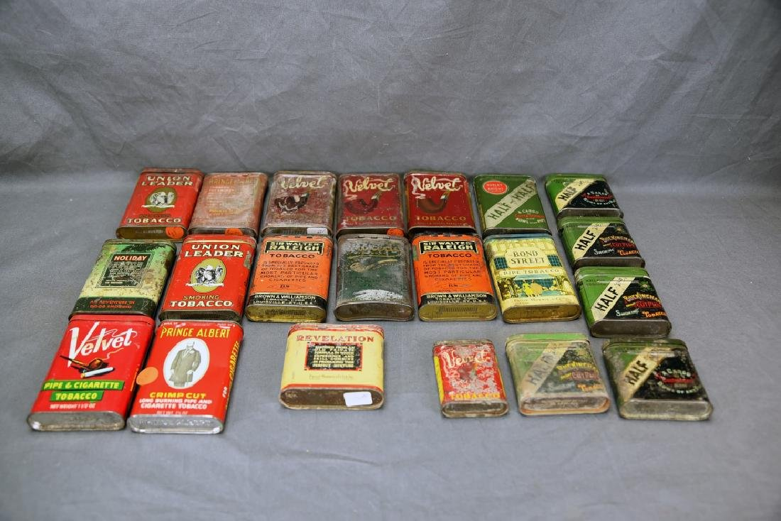 21 Pocket Tobacco Tins, Velvet Sample Tin