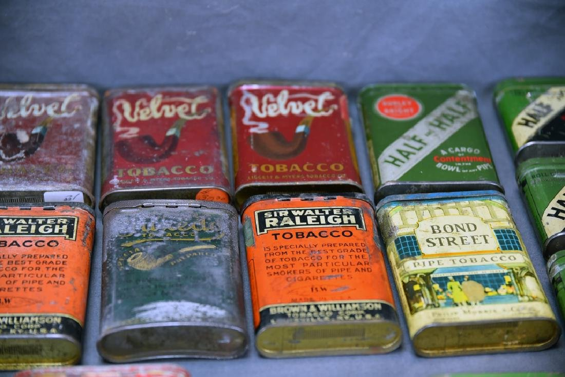 21 Pocket Tobacco Tins, Velvet Sample Tin - 3