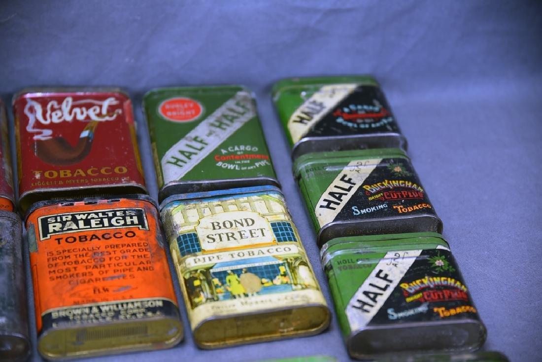 21 Pocket Tobacco Tins, Velvet Sample Tin - 4