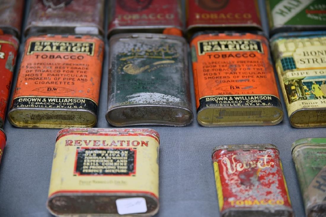 21 Pocket Tobacco Tins, Velvet Sample Tin - 6