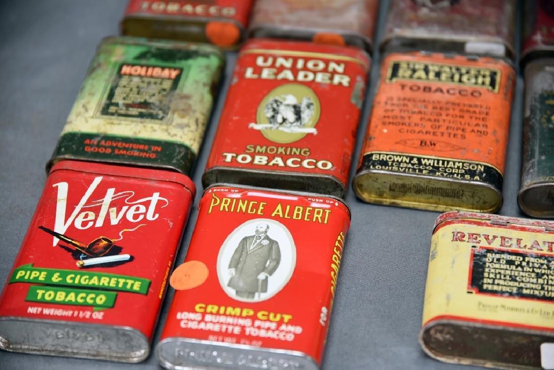 21 Pocket Tobacco Tins, Velvet Sample Tin - 7
