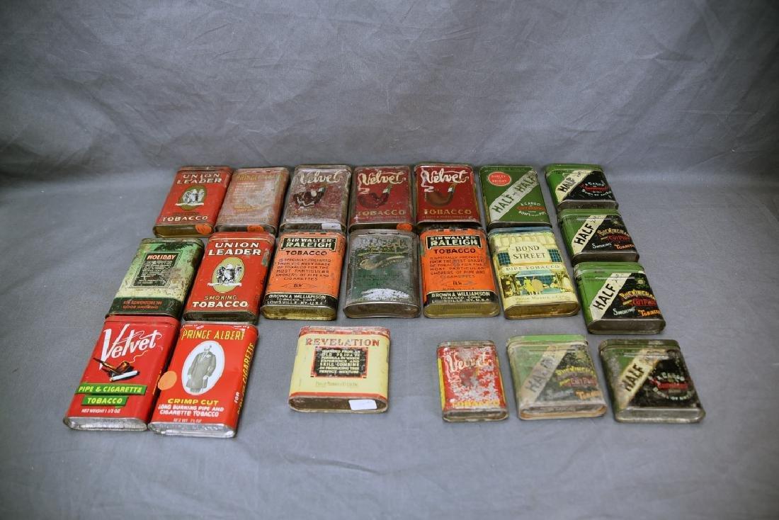 21 Pocket Tobacco Tins, Velvet Sample Tin - 8