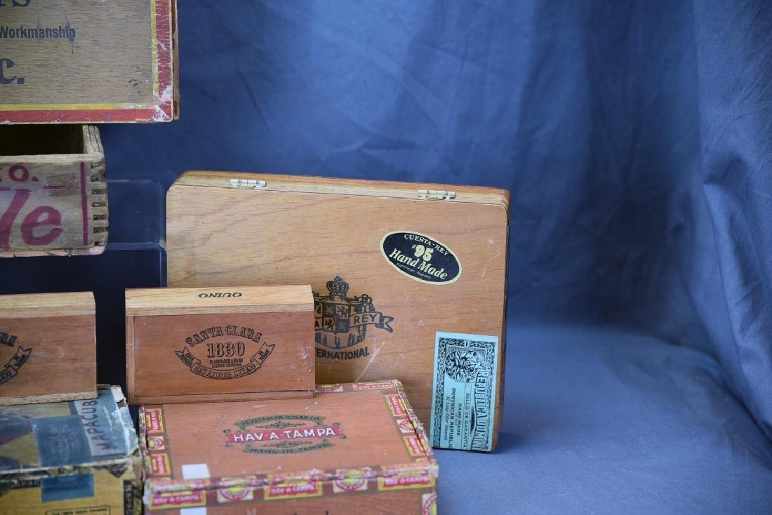 12 Wooden Cigar Boxes - 6