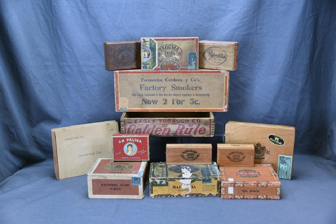12 Wooden Cigar Boxes - 7