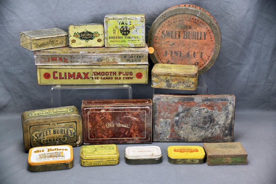 15 Tin Cigar Boxes