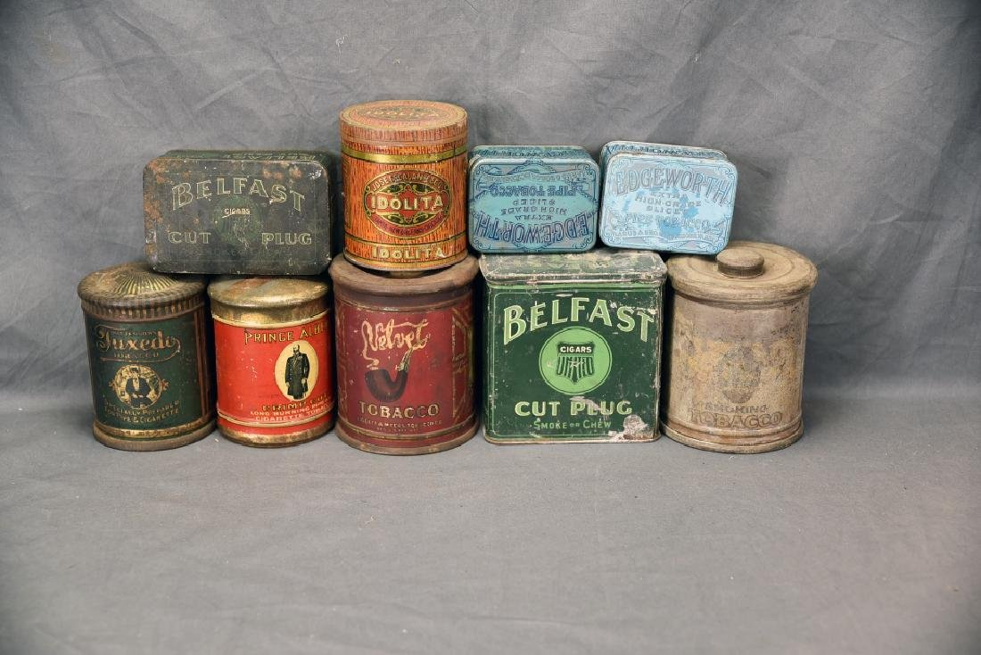9 Cigar Tin Cannisters