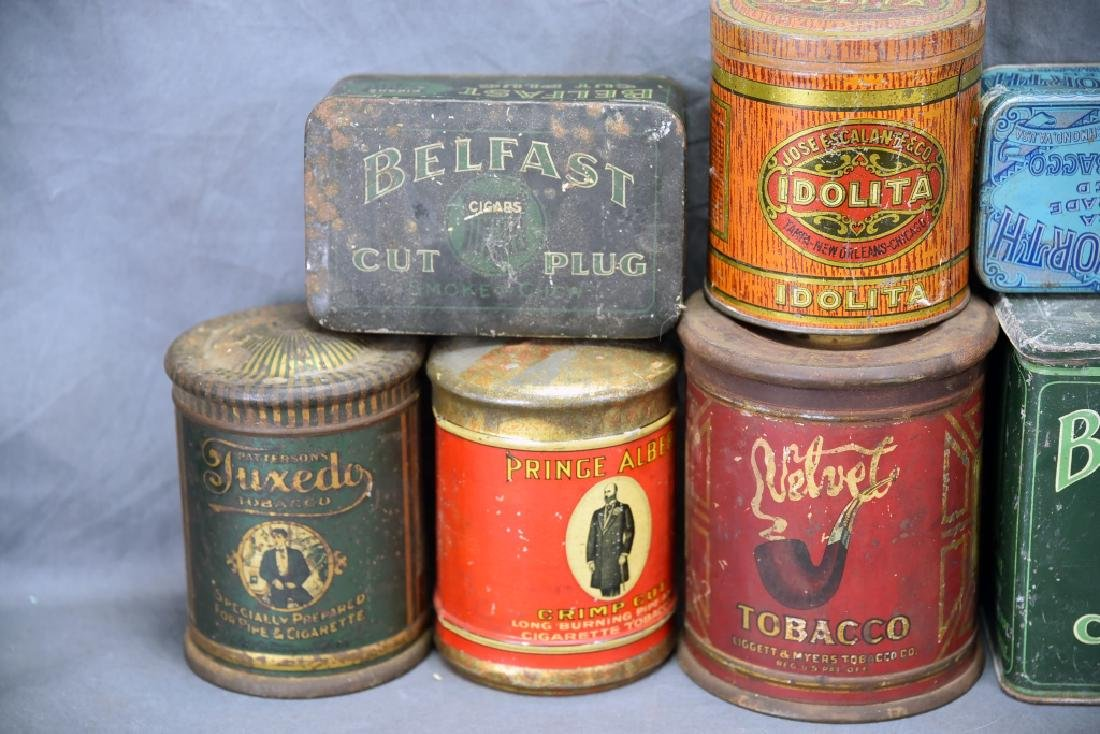 9 Cigar Tin Cannisters - 2