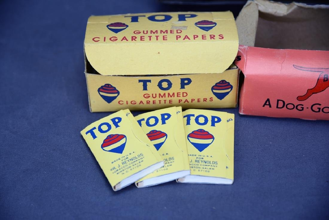 7 Tin Cigar Paper Dispensers and Papers - 2