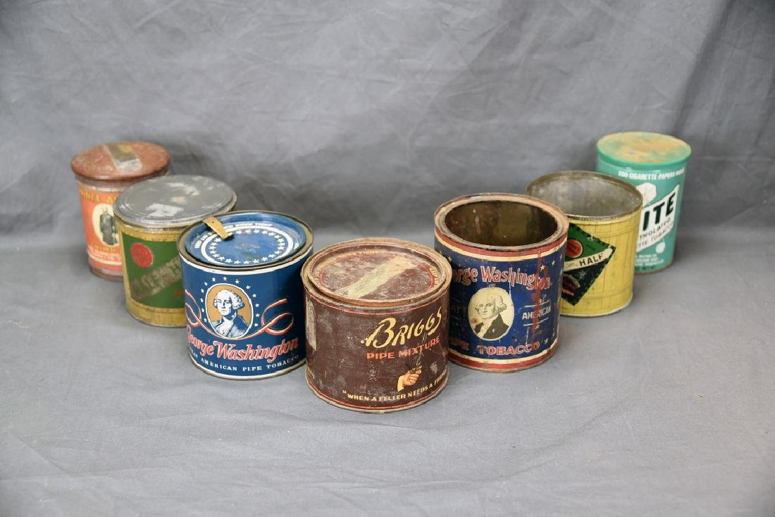 7 Round Cigar Cans