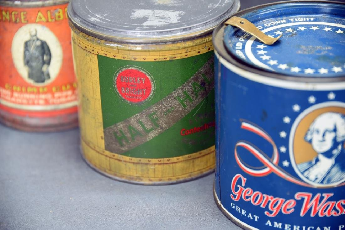 7 Round Cigar Cans - 6
