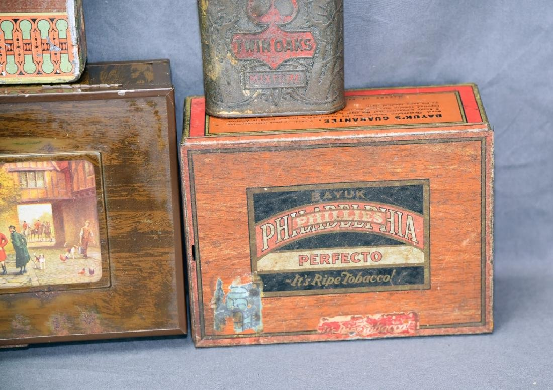 6 Cigar and Tobacco Tins - 2