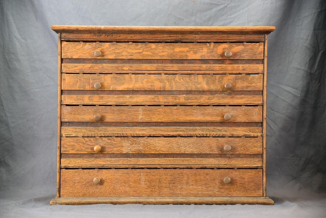 5 Divided Drawer Countertop Store Cabinet