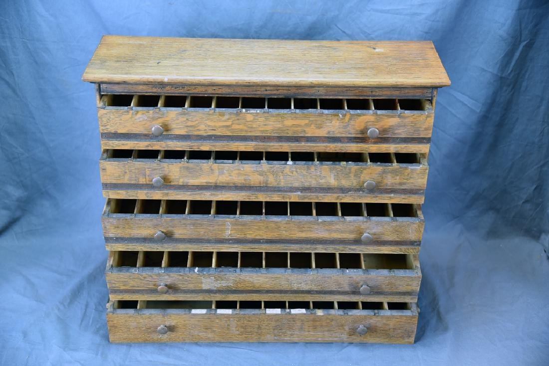 5 Divided Drawer Countertop Store Cabinet - 2