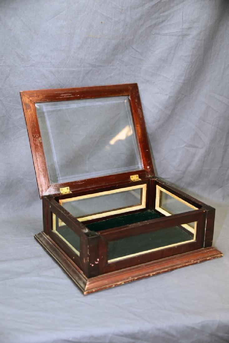 Top Opening Beveled Glass Jewelry Display - 2
