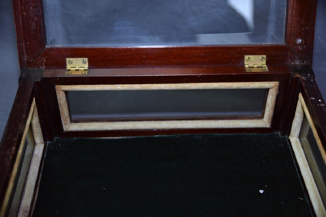Top Opening Beveled Glass Jewelry Display - 3