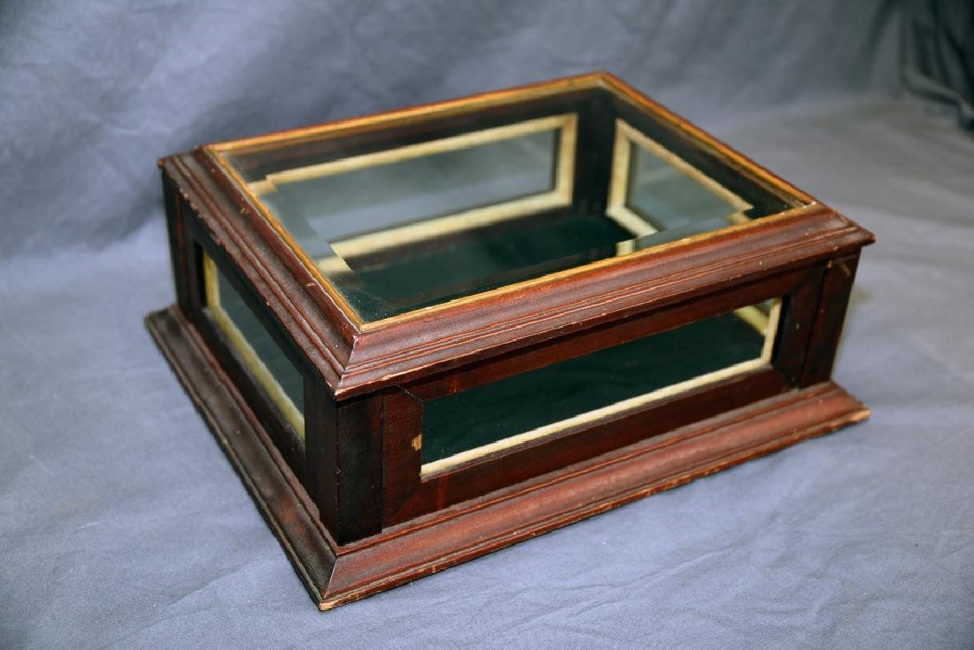 Top Opening Beveled Glass Jewelry Display - 4