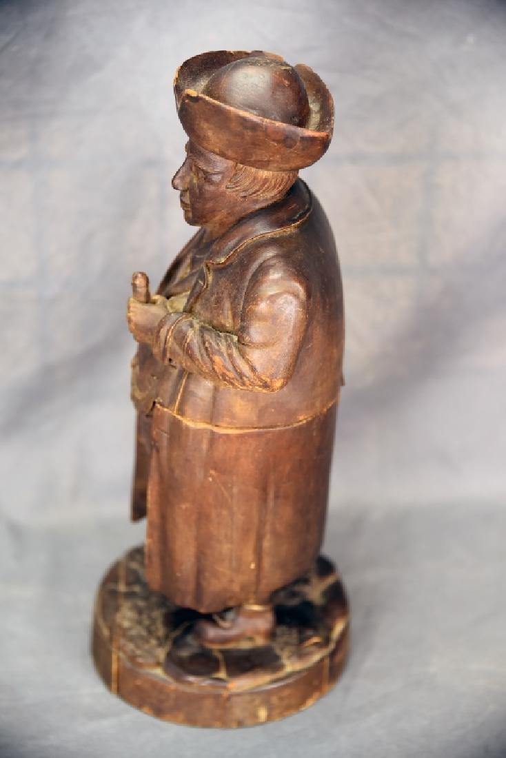 Hand Carved Wooden Figural Gentleman Humidor - 10