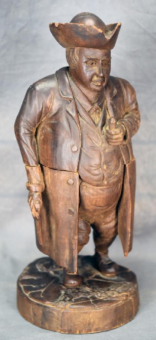 Hand Carved Wooden Figural Gentleman Humidor