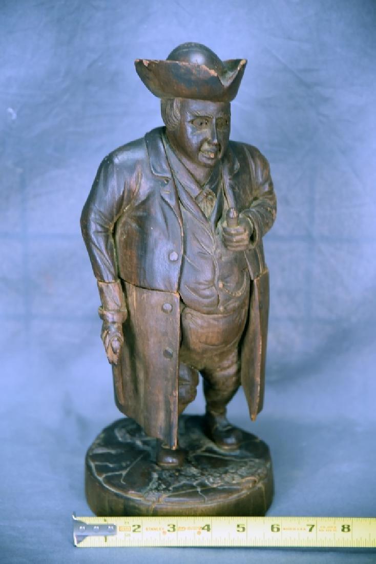 Hand Carved Wooden Figural Gentleman Humidor - 2