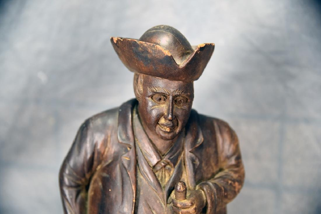 Hand Carved Wooden Figural Gentleman Humidor - 4
