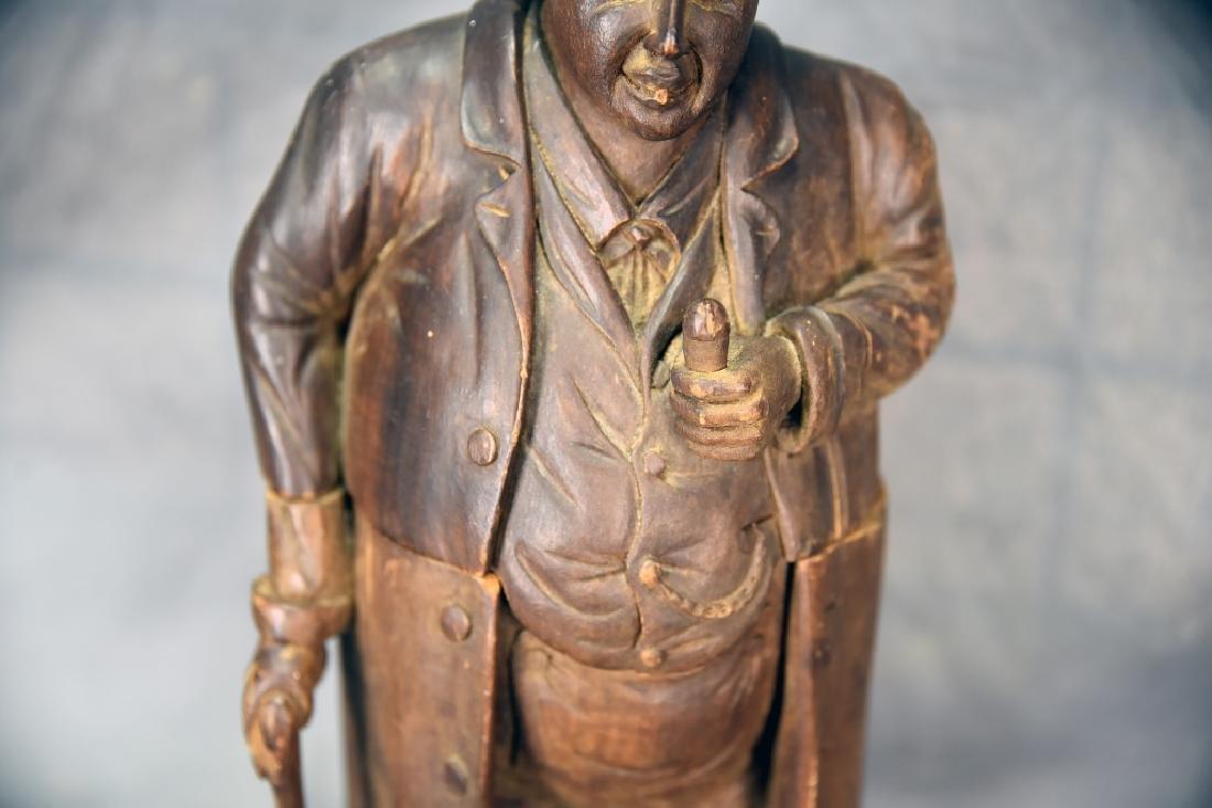 Hand Carved Wooden Figural Gentleman Humidor - 5