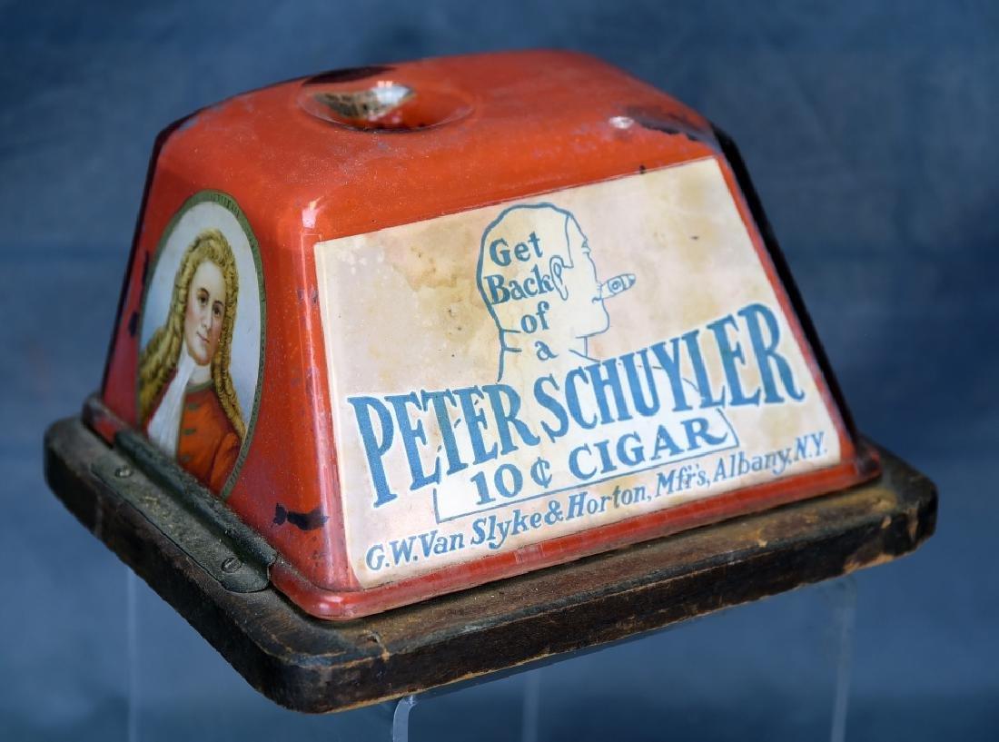 Tin Peter Schuyler 10 Cent Cigar Cutter