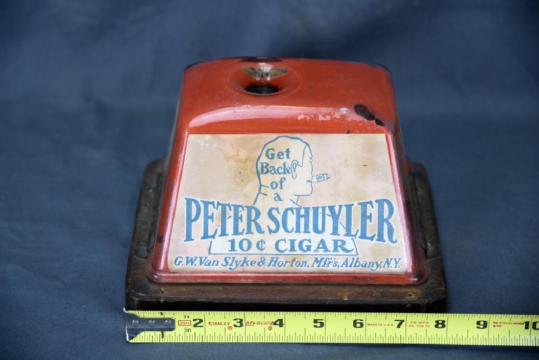 Tin Peter Schuyler 10 Cent Cigar Cutter - 2