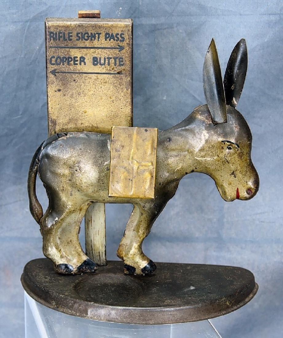 Tin Donkey Cigarette Dispenser Match Holder